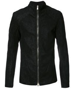 10Sei0Otto | High Neck Zipped Jacket Medium Cotton/Spandex/Elastane/Leather