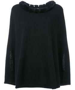 N.PEAL | Furry Collar Top