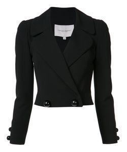 Carolina Herrera | Double-Breasted Cropped Jacket 4 Silk/Cotton/Virgin Wool