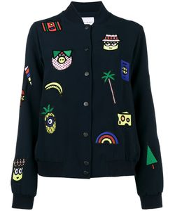 Mira Mikati | Patch Embroidered Bomber Jacket With Minions Women