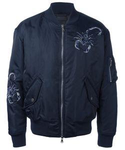 Diesel Black Gold | Embroide Bomber Jacket 52 Polyamide/Polyester/Spandex/Elastane