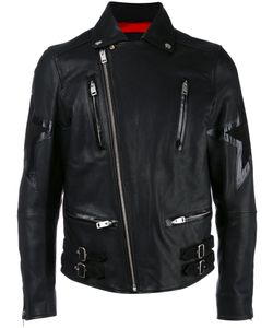 Diesel | Star Biker Jacket Large Lamb Skin/Acetate