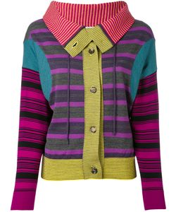 Loewe   Striped Patchwork Cardigan