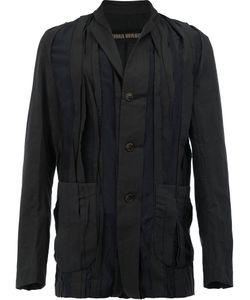 UMA WANG | Pleated Button Front Jacket Medium Cotton/Cupro
