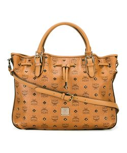 MCM | Logo Print Tote Leather/Cotton