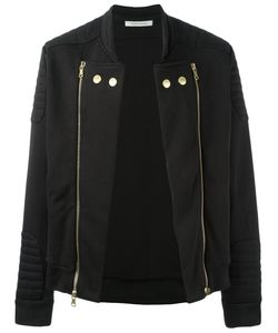 Pierre Balmain | Double Zips Biker Jacket 50 Cotton/Polyester