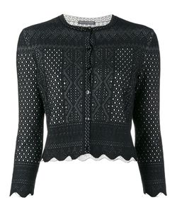Alexander McQueen | Laser-Cut Cropped Cardigan Medium Viscose/Silk/Polyester