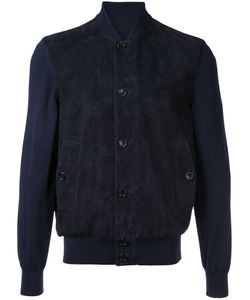 Cerruti   1881 Contrast Sleeve Bomber Jacket Size 52 Lamb