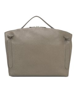 Jil Sander | Square Single Handle Tote Cotton/Leather