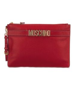 Moschino | Logo Strap Clutch Leather