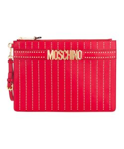 Moschino | Logo Strap Clutch Leather/Metal