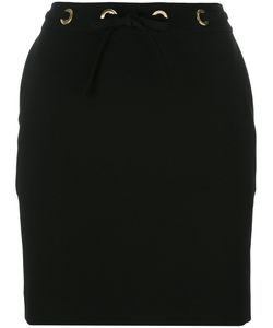 Kenzo | Drawstring Waist Miniskirt 38 Triacetate/Polyester