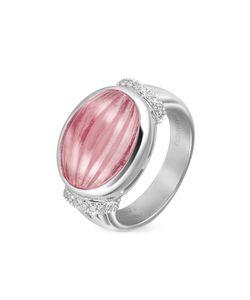 Roma Imperiale | Кольцо Из Золота 18 Карат С Граненным Розовым Рубеллитом И Бриллиантами