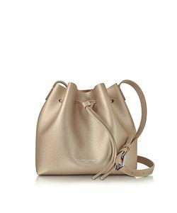LANCASTER PARIS | Purelement Champagne Pink Saffiano Leather Bucket Bag