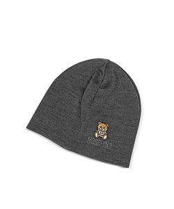 Moschino   Однотонная Шерстяная Шапка Teddy Bear