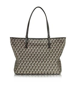 LANCASTER PARIS | Ikon Printed Coated Canvas And Leather Tote