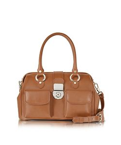 L.A.P.A. | Front Pocket Calf Leather Doctor-Style Handbag