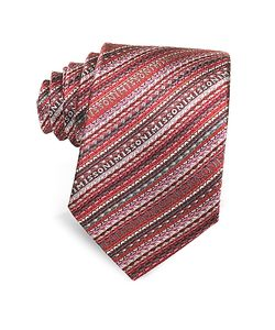 Missoni | Diagonal Stripe And Signature Woven Silk Narrow Tie