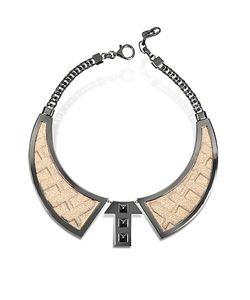 Avril 8790 | Bavero Contemporaneo Ожерелье Из Меди С Напылением Рутения И Золотистой Вискозы