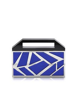 Avril 8790 | Two Faces Ruthenium Plated Brass And Golden Viscose Clutch