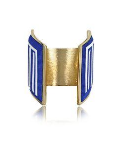 Avril 8790 | Rigore Palladium Plated Brass And Multicolor Viscose Bangle