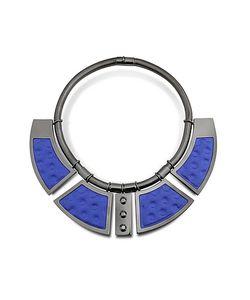 Avril 8790 | Geometrie Ожерелье Воротник Из Меди С Напылением Палладия И Золотистой Вискозы С Заклепками