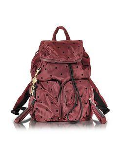 See by Chloé   Joy Rider Grape And Black Dots Nylon Backpack