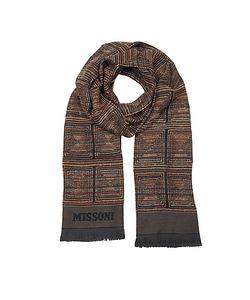 Missoni | Темно-Коричневый Мужской Шарф Из Текстурной Смеси Шерсти