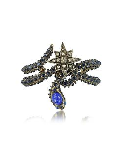 Roberto Cavalli | Snake Star Bracelet Браслет С Синими Камнями