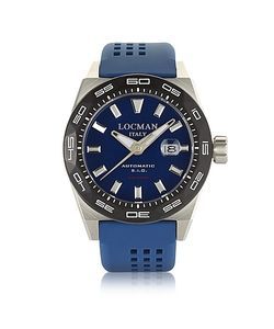 Locman | Stealth 300 Mt Analog Display Automatic Self Wind Stainless Steel Titanium And Silicone Watch