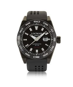 Locman | Stealth 300 Mt Analog Display Automatic Self Wind Pvd Stainless Steel Titanium And Silicone Watch
