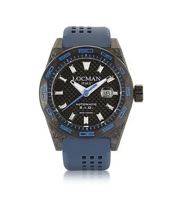 Locman | Stealth 300 Mt Automatic Carbon Fiber And Titanium Case W Silicone Strap Watch