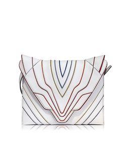 Elena Ghisellini | Pochette Fatale Multilines Leather Clutch