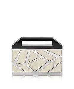 Avril 8790 | Two Faces Ruthenium Plated Brass And En Viscose Clutch