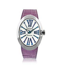 Locman   Change Овальные Часы Из Нержавеющей Стали С Тремя Кожаными Ремешками