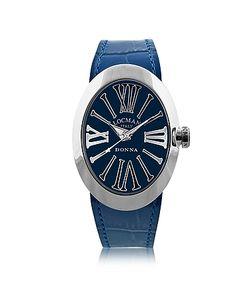 Locman   Change Овальные Часы Из Нержавеющей Стали С 3 Кожаными Ремешками
