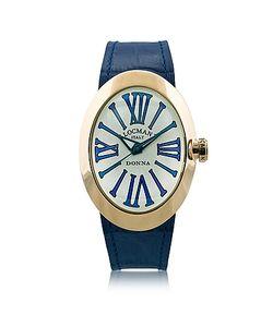 Locman | Change Овальные Позолоченные Часы Из Нержавеющей Стали С 3 Кожаными Ремешками