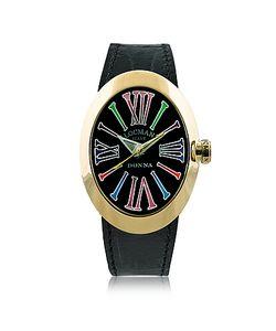 Locman   Change Овальные Позолоченные Часы Из Нержавеющей Стали С 3 Кожаными Ремешками