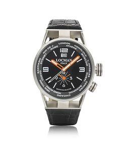 Locman   Montecristo Часы Из Нержавеющей Стали И Титана С Кожаным Ремешком