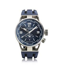 Locman   Montecristo Часы Из Нержавеющей Стали И Титана С Двумя Часовыми Поясами