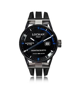Locman   Montecristo Черные Автоматические Часы Из Нержавеющей Стали И Титана