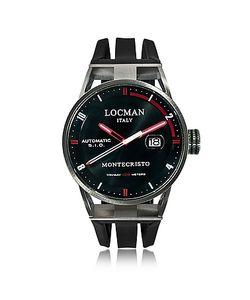 Locman   Montecristo Автоматические Часы Из Нержавеющей Стали И Титана На Силиконовом Ремешке