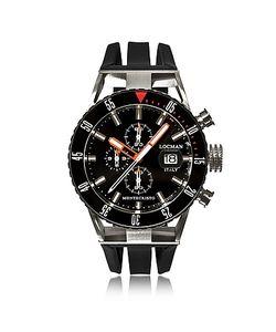 Locman   Montecristo Черные Часы Хронограф Из Нержавеющей Стали И Титана