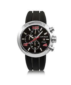 Locman | Change Круглые Часы Хронограф Из Нержавеющей Стали С Кожаным И Силиконовым Ремешками