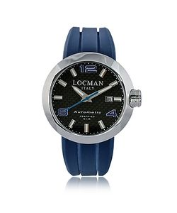 Locman | Change Круглые Автоматические Часы Хронограф Из Нержавеющей Стали С Кожаным И Силиконовым Ремешком