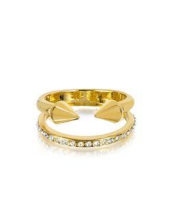 VITA FEDE | Маленькое Золотистое Кольцо Titan С Кристаллами