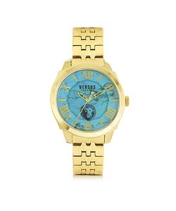Versace Versus | Chelsea Tone Stainless Steel And Turquoise Dial Unisex Watch