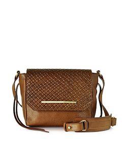 Francesco Biasia | Creola Genuine Woven Leather Shoulder Bag