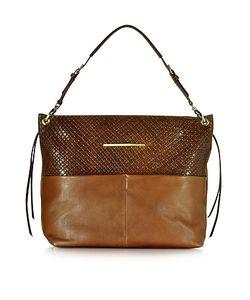 Francesco Biasia | Creola Large Woven Leather Shoulder Bag