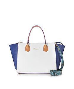 Francesco Biasia | Fleur Color Block Leather Satchel Bag